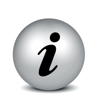 Information Symbol - silver