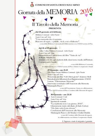 manifesto Città della Memoria 2016