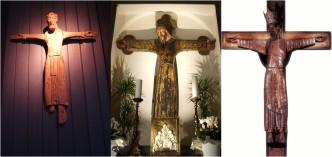 Cristo re tunicato di Väversunda, Historiska Museet, Stoccolma, Svezia; Volto Santo di Santa Croce sull'Arno; Cristo Majestat di Caldes de Montbui, Barcelones, provincia di Barcellona.